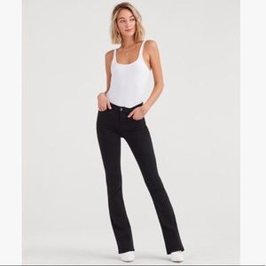 7 For All Mankind Black High Waisted Bootcut Jeans